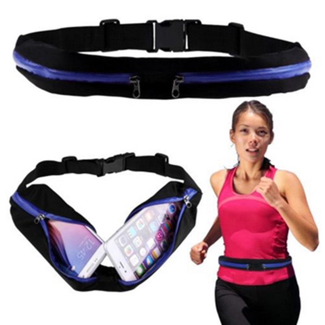 Waist Bag Double Pocket Bag Waterproof Phone Belt Personal Purse Waist Pack Man/ Women Unisex High Qualityt Fashion Casual Bag