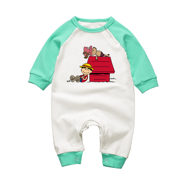 757a349684692 Baby Boys Rompers One-pieces Luffy Choppers Cute Toddler Cotton Playsuits  3-18 Newborn