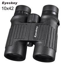 Wholesale Binoculars 10×42 Eyeskey Hunting Binocular Waterproof Neck Strap Binoculares Professional Telescope Bak4 Prism for Camping