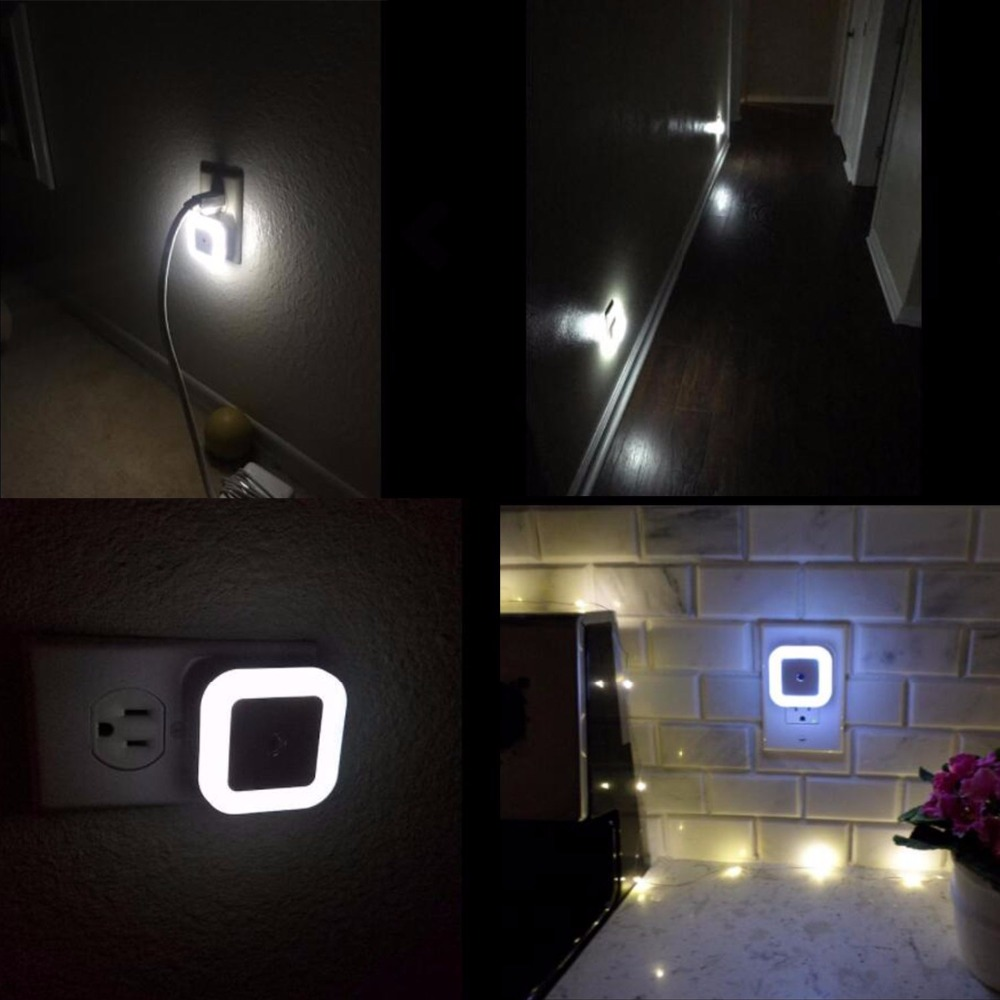13 Light Sensor Control Night Light Mini EU US Plug Square wc toilet light Bedroom lamp For Baby Gift Romantic Colorful Lights