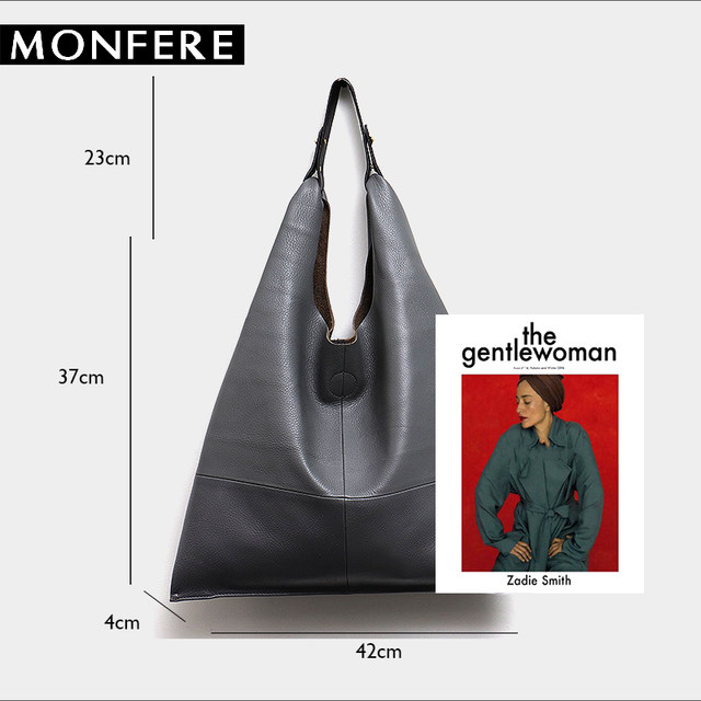 98071409cf2e Online Shop MONFERE Casual Women Hobo Bag Soft Genuine Cow Leather ...