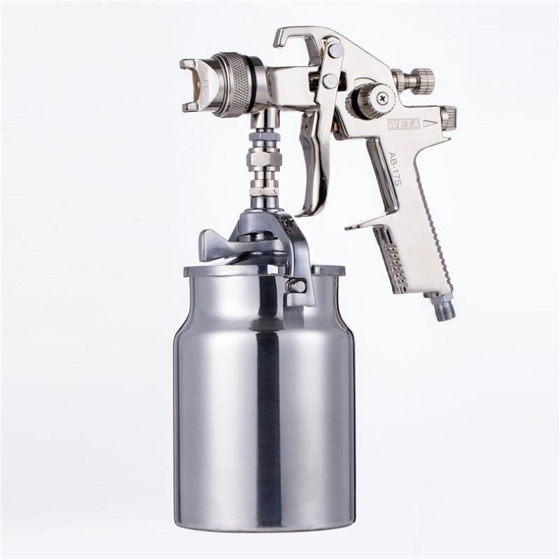 Weta HVLP spray paint gun 1.7mm Airbrush airless spray gun for painting car Pneumatic tool air brush sprayer AB17S стоимость