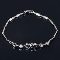 18K Gold Diamond Bracelet For Women K White Gold Natural Diamond Bangles Wedding Engagement Ceremony For