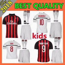 Hot sale AC milan kids kit+socks 18 19 soccer jersey 2018 2019 football  shirt 94256046a