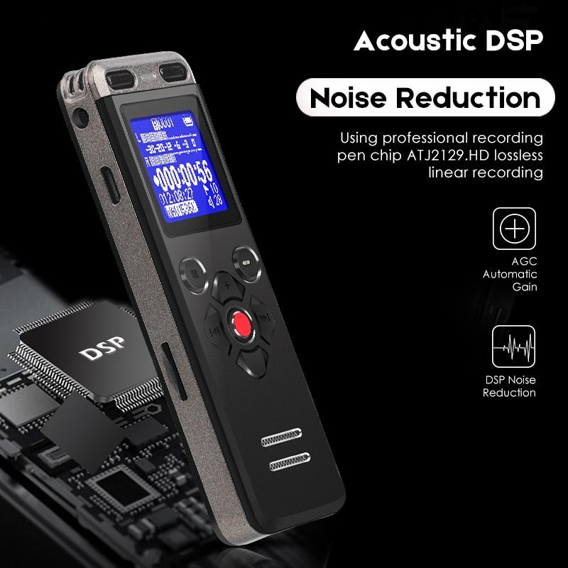 Digital Voice Recorder Tragbares Audio & Video Nett Diktiergerät Professionelle Verlustfreie Audio Digital Recorder Usb Aufnahme Stift Mini Großen Bildschirm