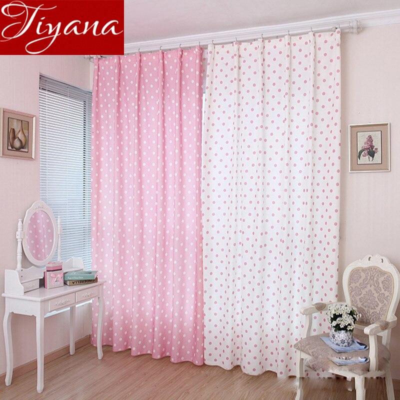 Small Dot Pattern Curtains Korean Fresh Semi Shade Curtains Kids Girls Bedroom Curtains Cloth Tulle Custom Made T&122 #20