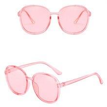 ASUOP new round fashion ladies sunglasses transparent retro mens glasses luxury classic brand design crystal color