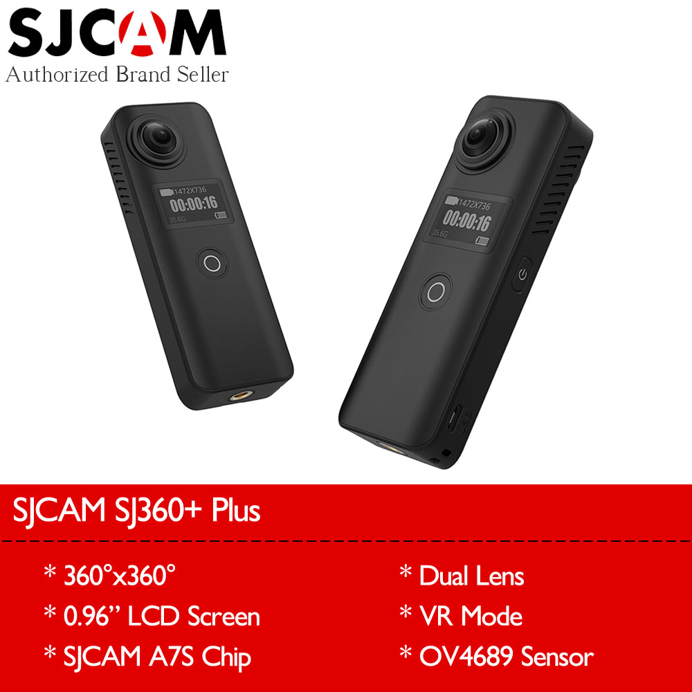 Original SJCAM SJ360 Plus Wifi 360 Degree VR Panorama Camera 1080P Full HD Dual Lens 0.96 Screen Remote Control Mini Camcorder sjcam sj360