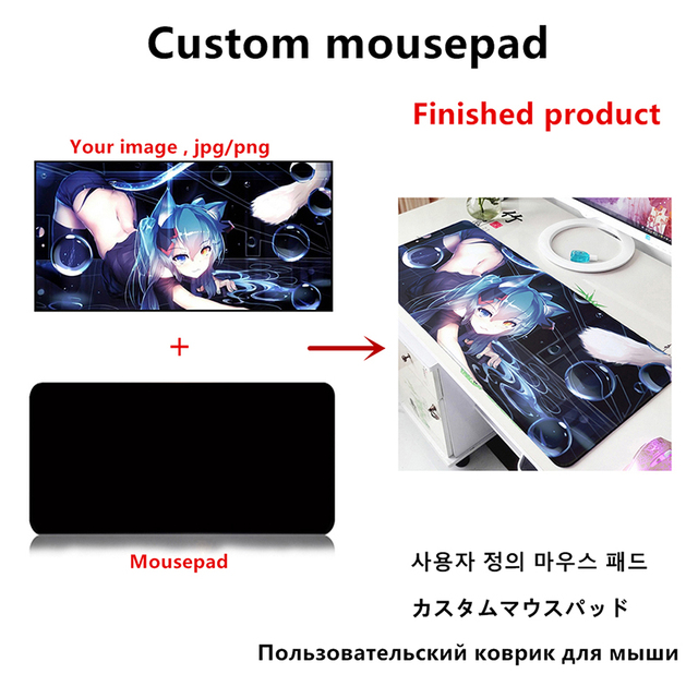 Large sizes DIY Custom Mouse pad mat Anime gaming mousepad L XL game Customized personalized mouse pad 6