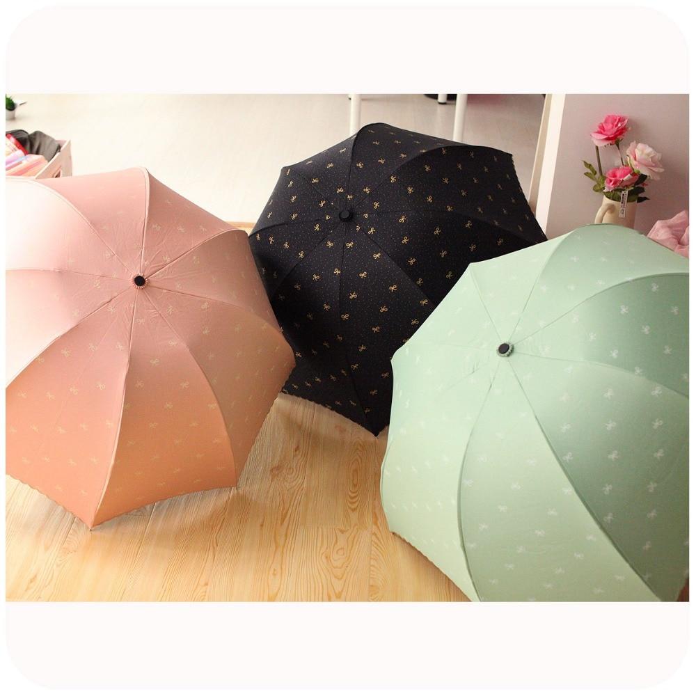 south korean princess vinyl umbrellas upf50 colored anti uv parasols umbrella three folding. Black Bedroom Furniture Sets. Home Design Ideas