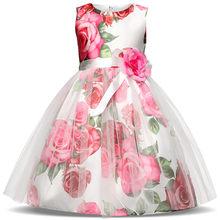 23a7727c8c74 Vestidos de niña de las flores vestido de bola niños vestidos para las niñas  princesa Girl ropa para 4 5 6 7 8 9 año vestido de .