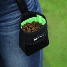 Мини-поясная сумка для дрессировки домашних животных, сумка для корма для собак, переносная камуфляжная Сумка для лечения собак, водонепроницаемая тканевая сумка