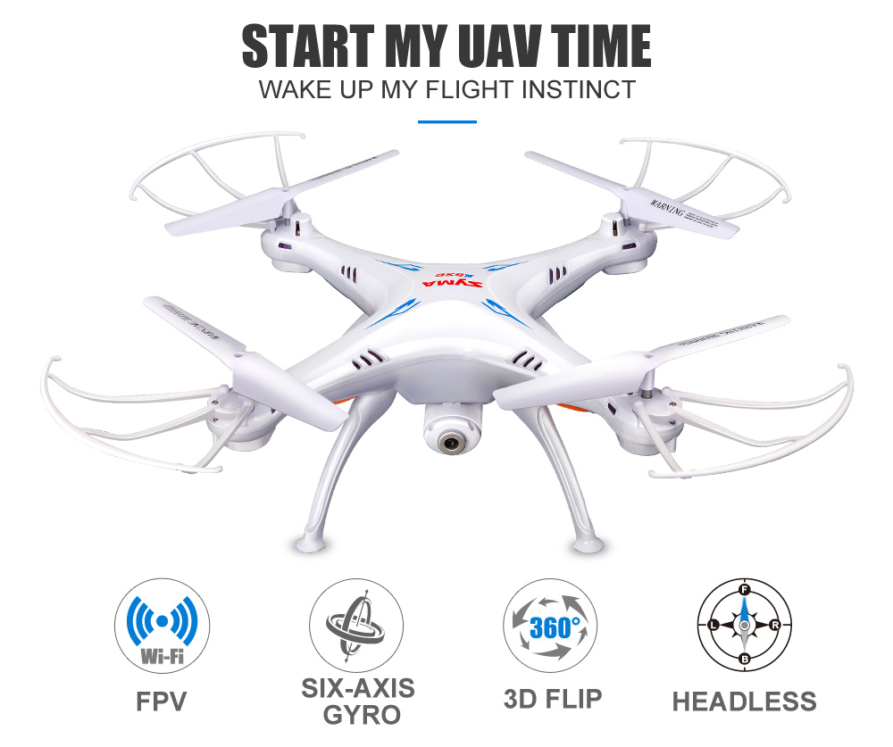 SYMA Official X5SW Drones with Camera HD WiFi FPV Real Time transmission RC Helicopter Quadrocopter RC Dron with Extra Battery 1