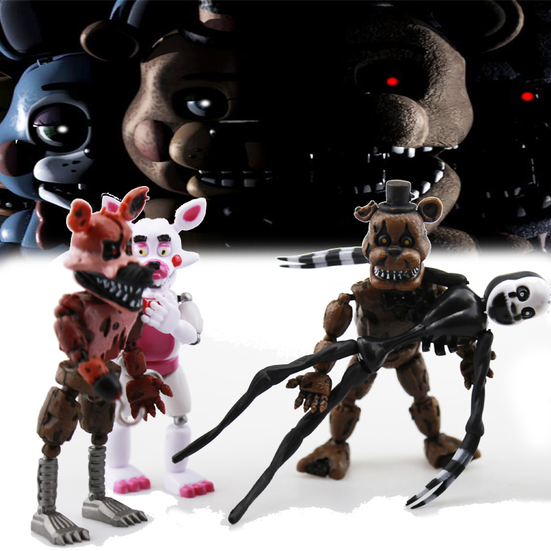 6Pcs/set Figures Toys Five Nights At Freddy's Action Figure Toy FNAF Teddy Bear Freddy Fazbear Bear Anime Figures Freddy Toys