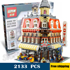 2133pcs New 15002 Make & Create Cafe Corner Hall DIY Model Building Blocks unique elements Toys Compatible with Lego