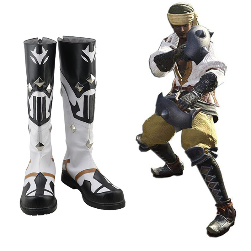Final Fantasy XIV FF 14 Pugilist Cosplay Shoes Boots Halloween Carnival Cosplay Costume Accessories