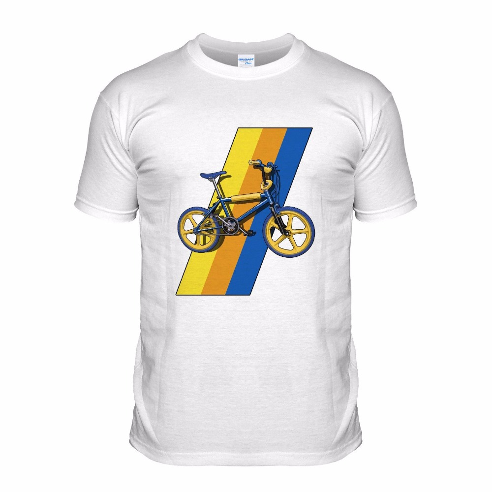 2018 Mens Fashion Casual Letter Printed Top T-Shirt Quality Bmx 80S Retro Classic Dirt Biker Sportser Bicycle Top Selling Tee
