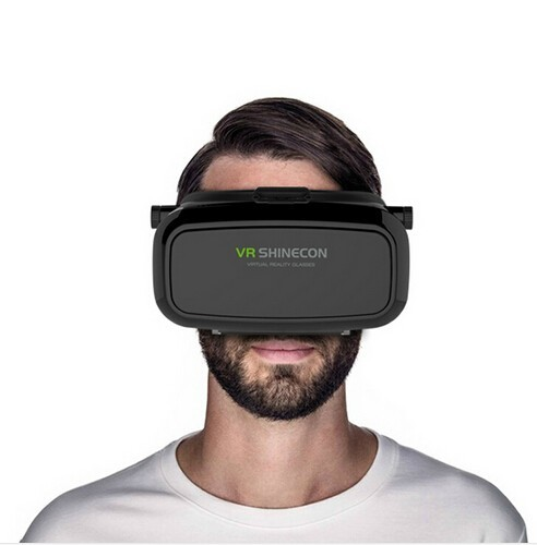 VR Shinecon VR Virtual Reality Real 3D Glasses Helmet Cardboard Mobile 3D Movie Cinema for iPhone Samsung 4.7 -6 inch Smartphone