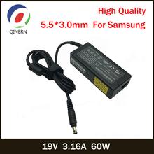 QINERN 19V 3 16A 60W 5 5*3 0mm AC ładowarka do laptopa zasilacz do Samsung R429 RV411 R428 RV415 RV420 RV515 R540 R510 R522 R530 tanie tanio CN (pochodzenie) 19 v Dla samsung SA126-5530