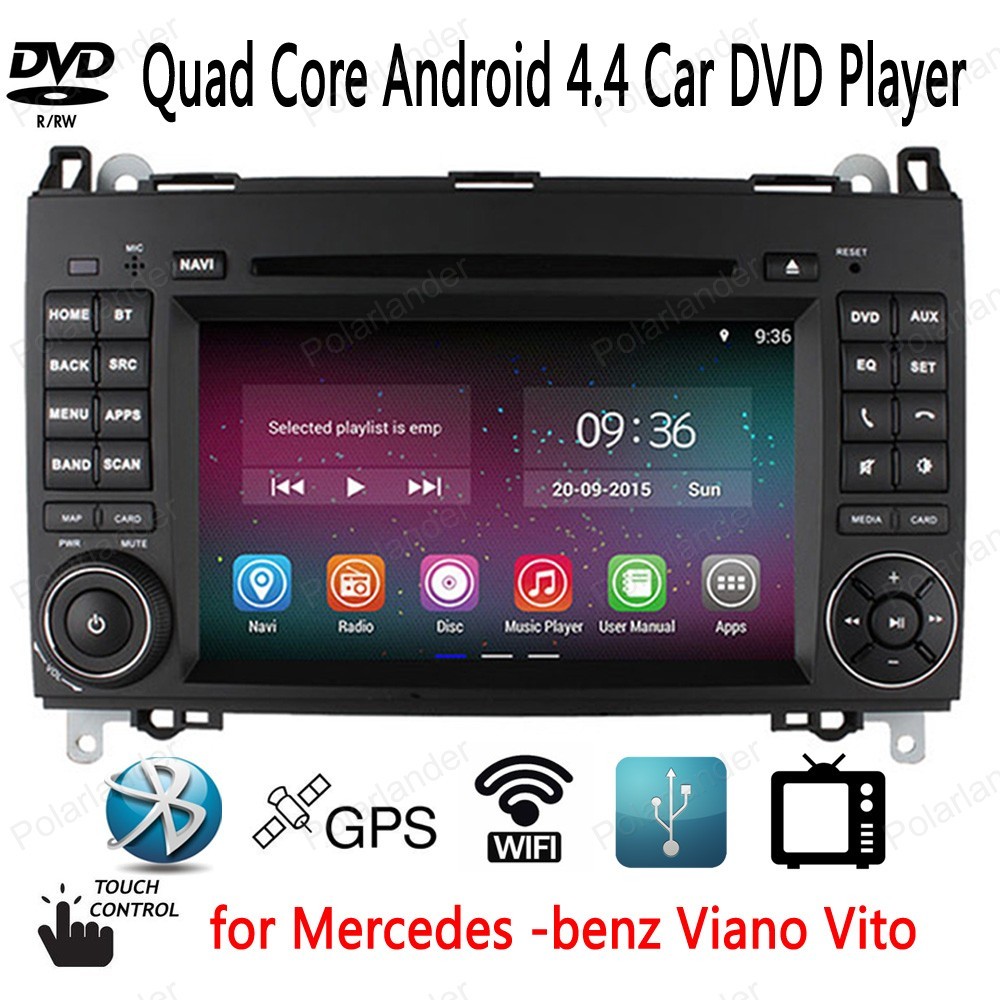 Car DVD Player 7 inch for Mercedes benz B200 W169 A160 Viano Vito support BT GPS 3G/wifi TV CD USB SD AUX