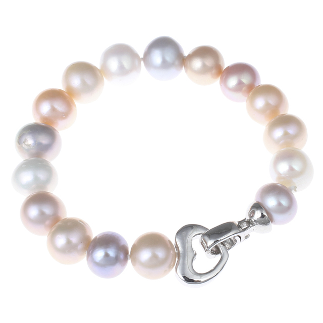New Women Jewelry Fashion Freshwater Pearl Bracelet Natural Real 9-10mm Pearl Beads Strand Wedding Jewelry Gifts Pearl Bracelets