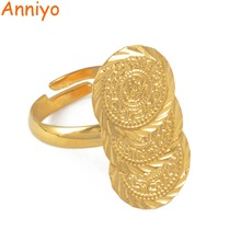 Anniyo Arab Ancient Coin Ring Free Size Women Girl Middle Eastern Jewelry Money Muslim Islam,Wholesale Coins Ring Africa #045406