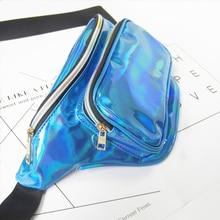 HLDAFA 2018 Fashion New Men Laser Waist Bag Leather Belt Waterproof Bag Phone Women Thighbags Fanny Pack Holographic Leg Bag