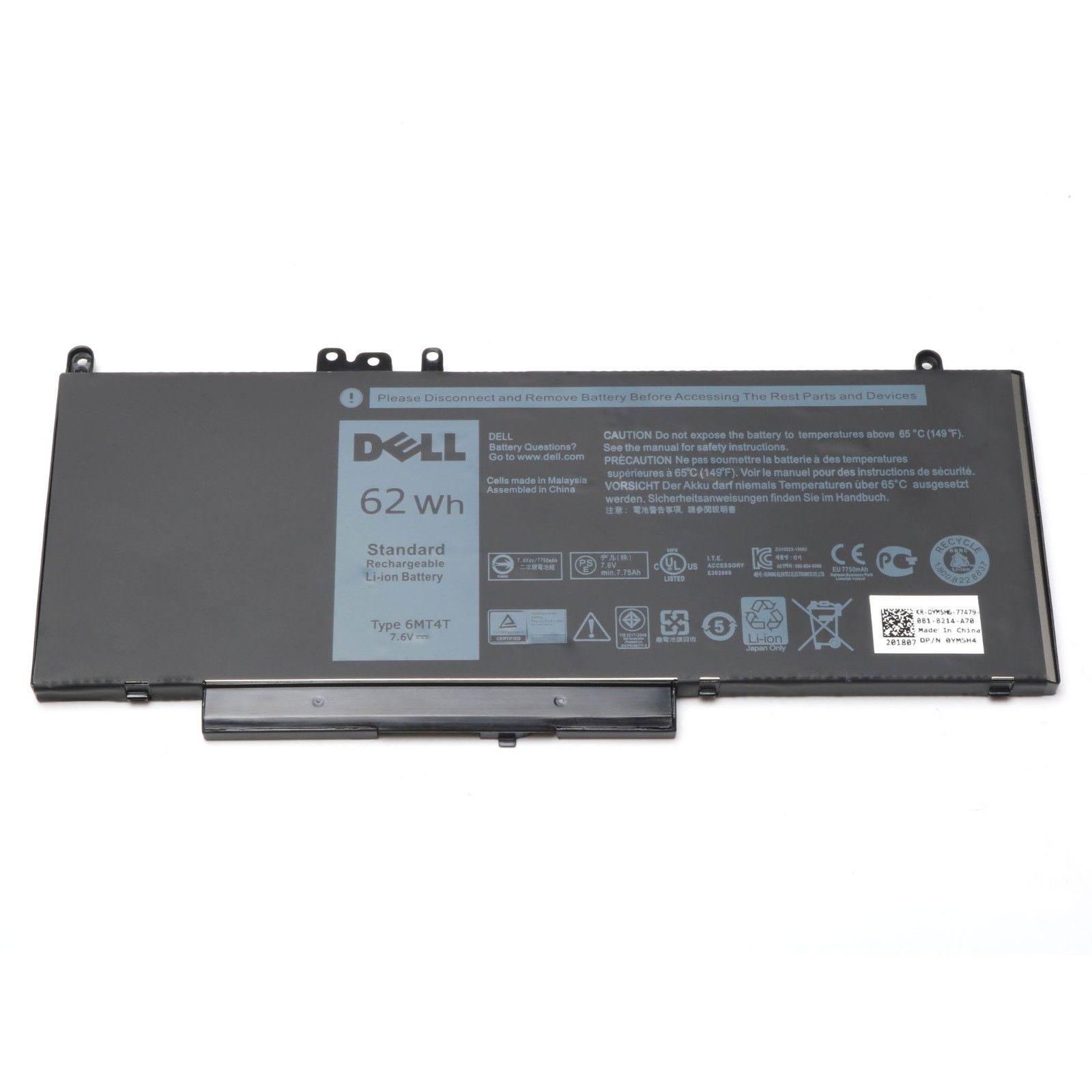 Genuine 7.6V 62Wh 6MT4T G5M10 Battery For Dell Latitude E5250 E5450 E5570 7V69Y K9GVN