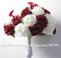 SPR 2018 New!!silk wedding centerpiece decoration Rose flowers candlestick table centerpiece flower decoratio Free shipping