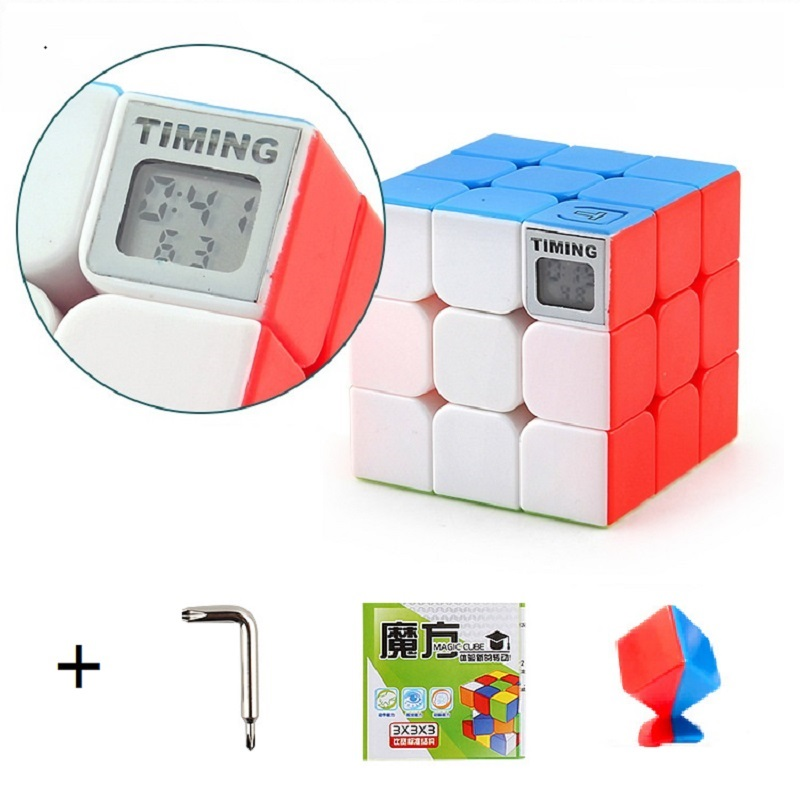 3x3x3 Magic Puzzles Cube Children Toys Speed Training Timer Cube Learning Educational Puzzle Magico Toys With screwdriver