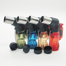 Three-tube TorchTurbo Lighter Cigar Cigarette Lighters supplies Spray Gun Electronic gas With Fixed Fire Device