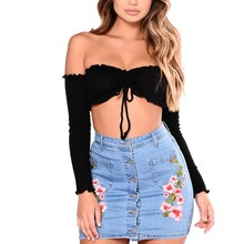 Sexy Women Top Seamless Pipes Bra Cotton Slim Short Paragraph Long Sleeve Wrapped Chest Bandeau Tube Tops Strapless Bralette