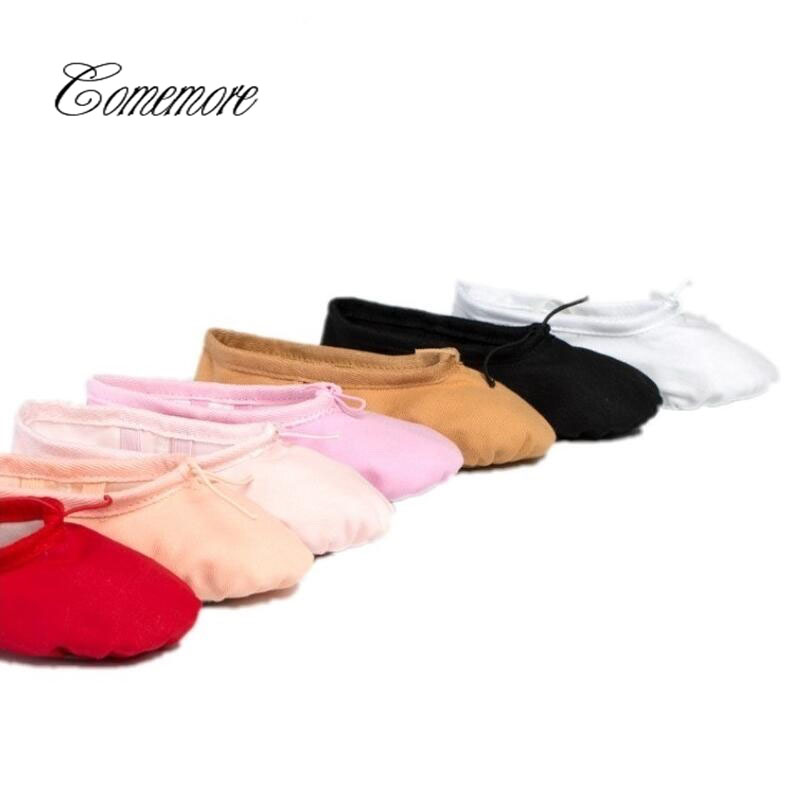 New10 Color Canvas Soft Ballet Shoes Dance Shoes Yoga Sneakers Children Baby Kids Girls Women Slippers