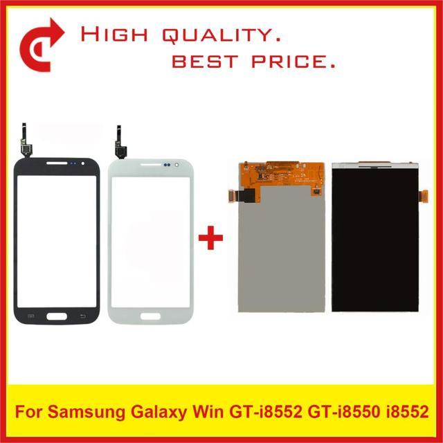 """Haute qualité 4.7 """"pour Samsung Galaxy Win I8550 i8552 écran LCD avec panneau de capteur de numériseur décran tactile"""