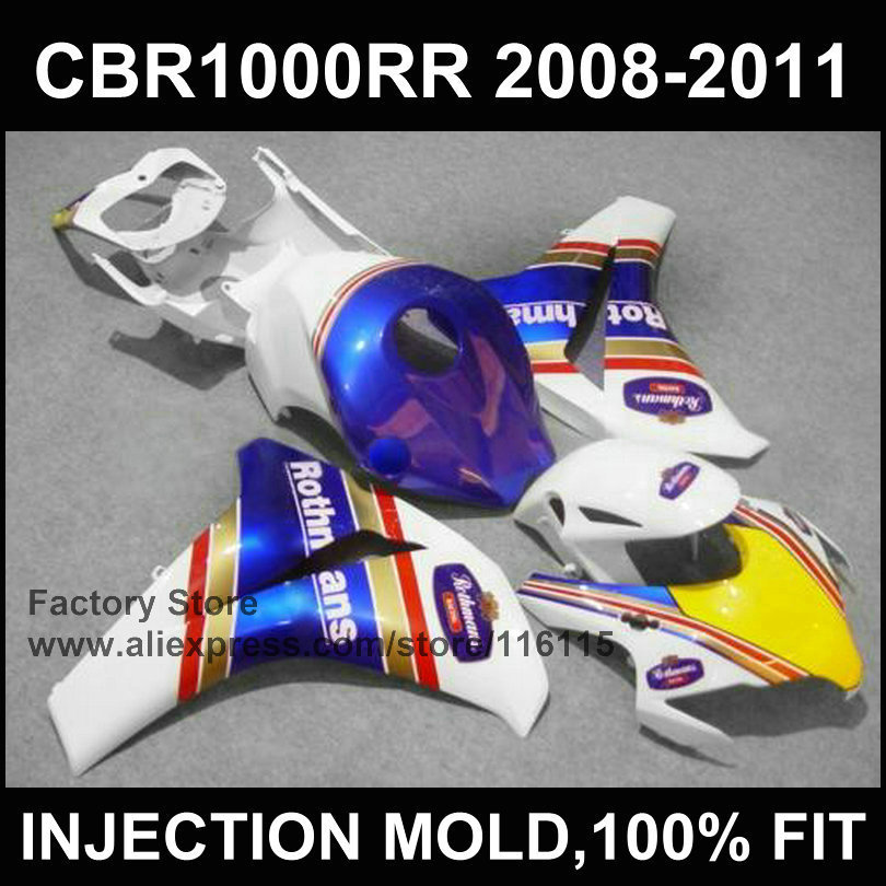 ROTHMANS fairing kit for HONDA DREAM CBR 1000 RR 2008 2009 2010 2011 Injection mold blue fairings 08 09 cbr1000 rr 10 11 12