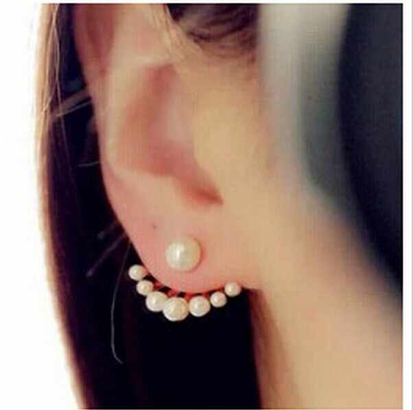 CED126 European and American fashion jewelry exquisite little wild imitation pearl earrings cute cute Neckband