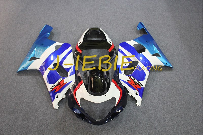 Black blue white Injection Fairing Body Work Frame Kit for SUZUKI GSXR 600/750 GSXR600 GSXR750 2001 2002 2003