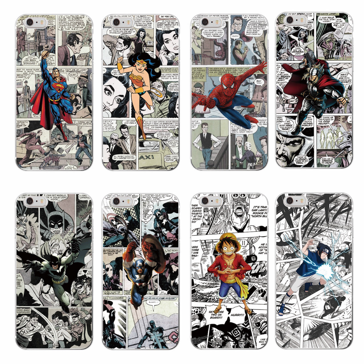 Cartoons Marvel <font><b>Comics</b></font> Batman <font><b>Spider</b></font> <font><b>Man</b></font> Wonder woman Captain America Soft Phone <font><b>Case</b></font> For iPhone 7 7Plus 6 6S 6Plus 5 5S SE 5C