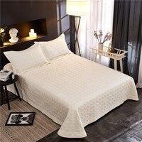 12 color solid color 3PCS egyptian Cotton 250x250cm and 250x270cm Bedspread/ thick Duvet Quilt bed cover pillowcase