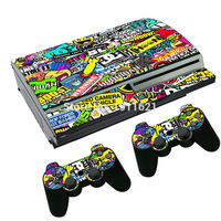 OSTSTICKER Vinyl Decal For PS3 Fat Skin Stickers Wrap For Sony PlayStation 3 Console and 2 Controllers Decorative Skins