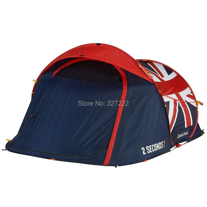 Pop Up Tent 2 Seconds Quick Tent for Two 2 Couple C&ers People EASY Open UK Flag C&ing Outdoor Quechua-in Tents from Sports u0026 Entertainment on ...  sc 1 st  AliExpress.com & Pop Up Tent 2 Seconds Quick Tent for Two 2 Couple Campers People ...