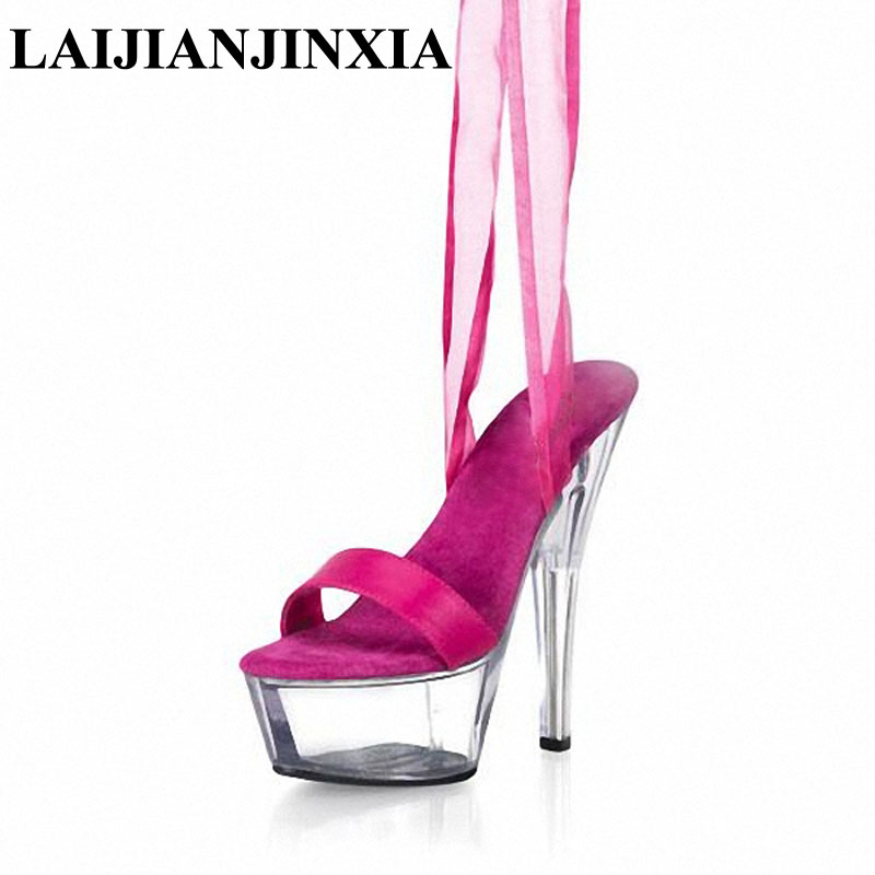 Office & School Supplies Sexy 15 Cm High-heeled Sandals Nightclub Dance Shoes Pole Dancing Shoes Model High Heels Womens Shoes Q-065 High Safety