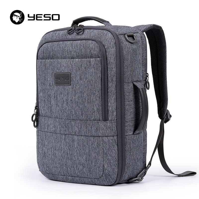 YESO универсальный рюкзак для ноутбука для мужчин 2018 большой ёмкость бизнес повседневное рюкзаки Anti Theft 17,3 дюймов компьютер женщин