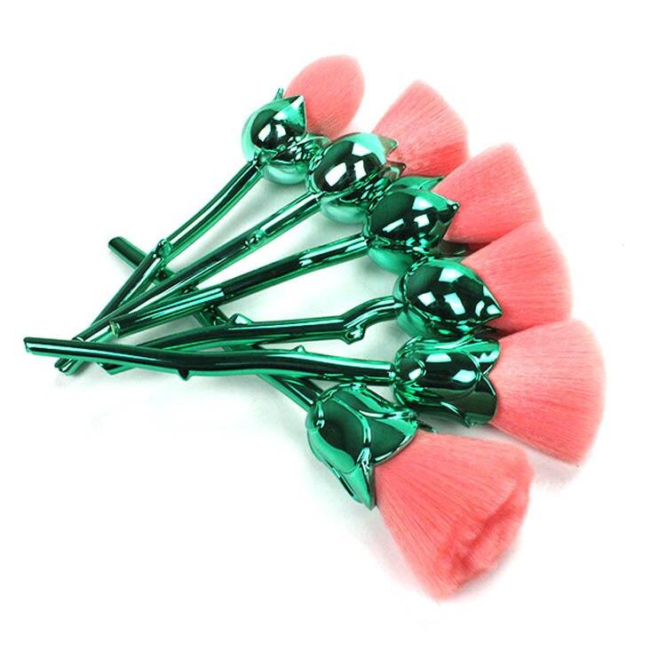 6 pcs set rosas ferramentas conjunto de pincel de maquiagem nova maquiagem criativa