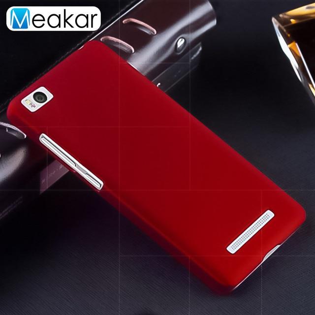 Matte Plastic Coque Cover 5.0For Xiaomi Mi4C Case For Xiaomi Mi4C Mi4I Mi 4C 4I Phone Back Coque Cover Case
