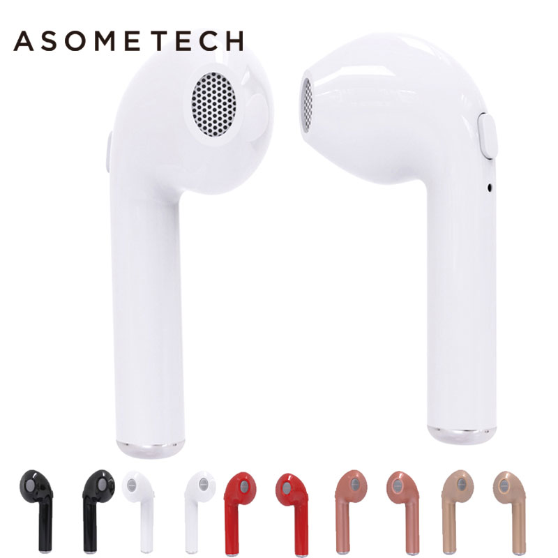 HBQ i7 TWS Bluetooth Headset Mini Wireless Earphone Binaural Double Stereo Music Headset For iphone 7 X i7 8 i9s Samsung S9 Plus wireless headphones bluetooth earphone suitable for iphone samsung bluetooth headset 4 2 tws mini microphone