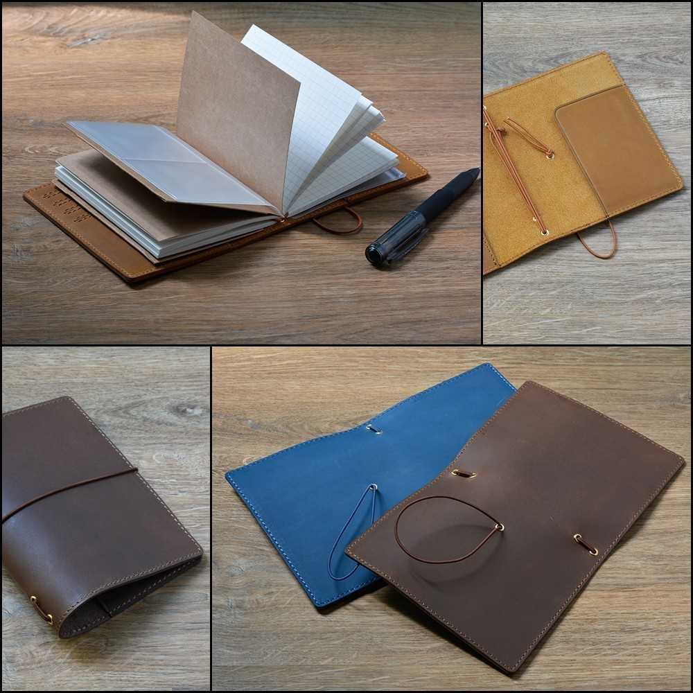 100% Äkta Läder Notebook Planner Handgjorda Bullet Journal Oljevax - Block och anteckningsböcker - Foto 4