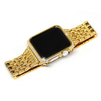 38 42mm Bracelet For Apple Watch Series 4 1 2 3 Crystal Rhinestone Diamond Watch Band Luxury Stainless Steel Strap iWatch Bands