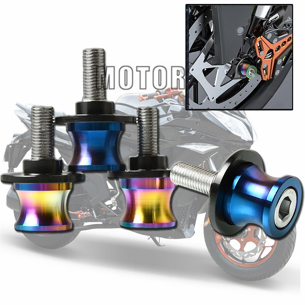 Motorbike <font><b>accessories</b></font> Motorcycle CNC Swingarm Sliders Spools for <font><b>yamaha</b></font> FZ1 FZ6 <font><b>FZ6N</b></font> FZ6R FZ6S FZ-07 FZ8 FZ09 in top-selling image