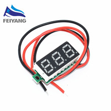 0.28 Inch 2.5V-40V Mini Digital Voltmeter Voltage Tester Meter RED LED Screen Electronic Parts Accessories